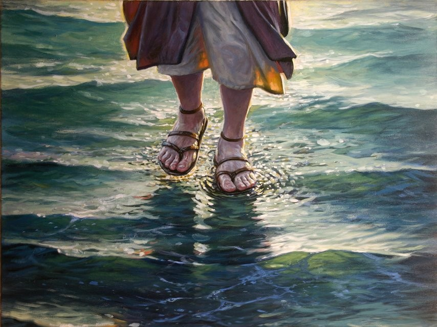 Jesus Walking on Water by Mick McGinty