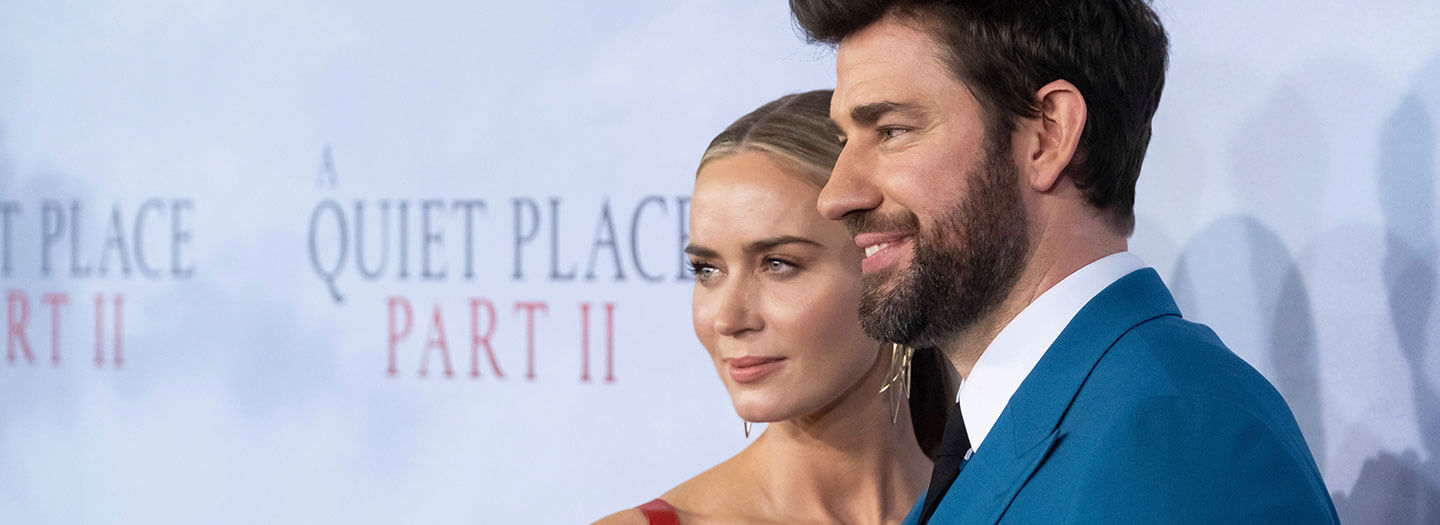 """Emily Blunt and John Krasinski attend the world premiere of Paramount Pictures' """"A Quiet Place Part II""""."""